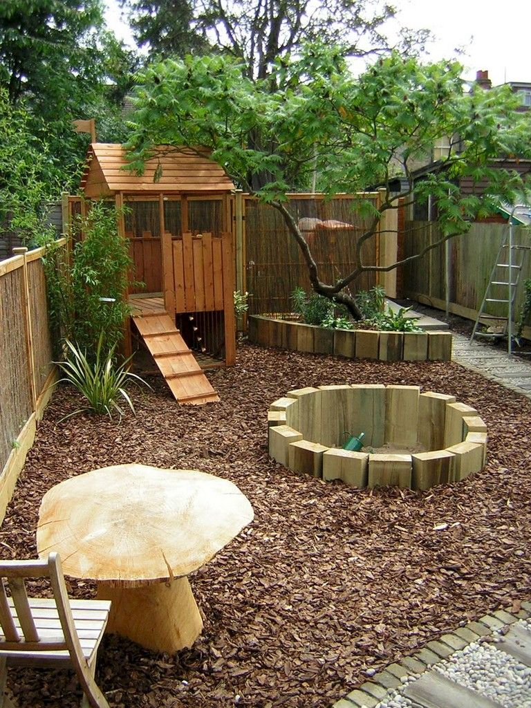 37+ Clever and Cute Backyard Garden Playground for Kids ... on Cute Small Backyard Ideas  id=70574