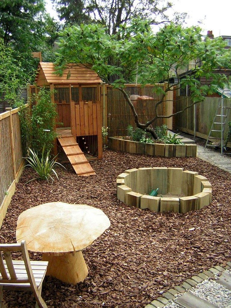 37 Clever And Cute Backyard Garden Playground For Kids Backyard