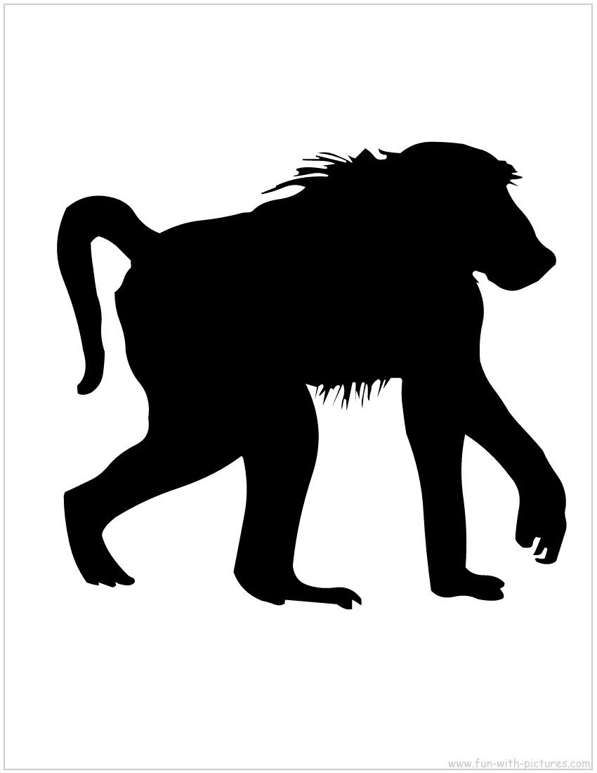 Baboon 20clip 20art Clipart Panda Free Clipart Images Animal Silhouette Silhouette Art Animal Stencil