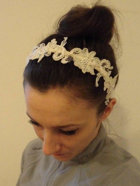 Alencon Dentelle  Headband Headpiece Bridal Prom