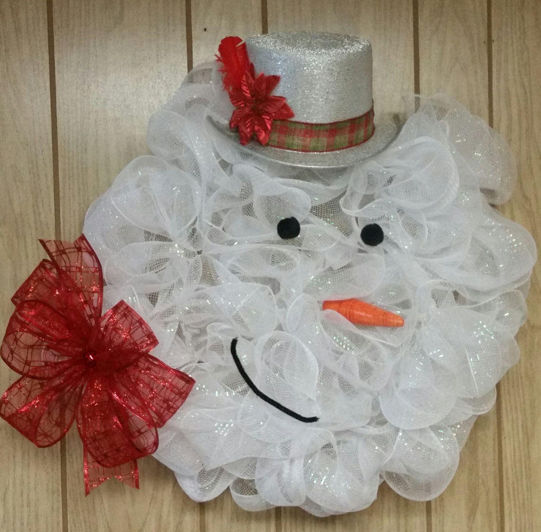"""23"""" Snowman wreaths by RuffleCrafts on Etsy Xmas crafts"""