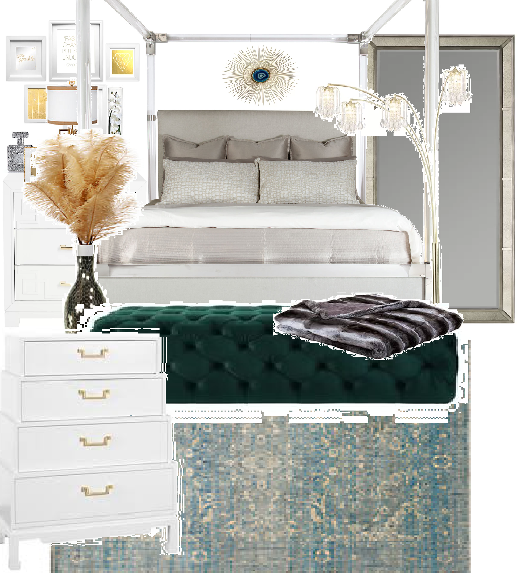 My glam bedroom Glam bedroom, Home decor, Furniture