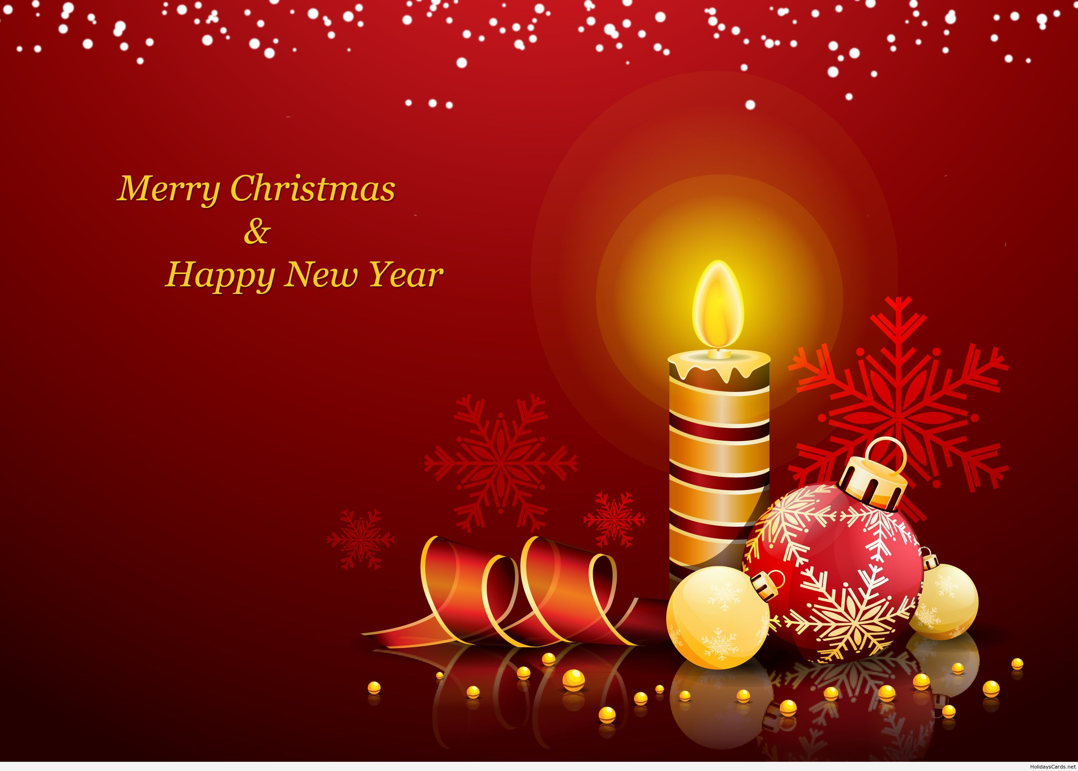 Merry Christmas And Happy New Year Wallpaper Happy New Year