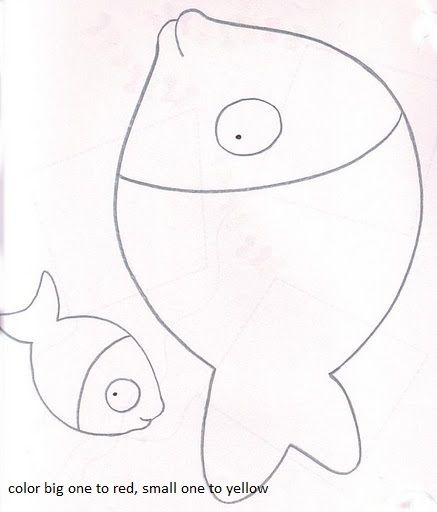 Cute Fish To Color Coloring Page Of Big And Small Fish Coloring Pages The Little Fish Coloring Page Dolphin Coloring Pages Whale Coloring Pages