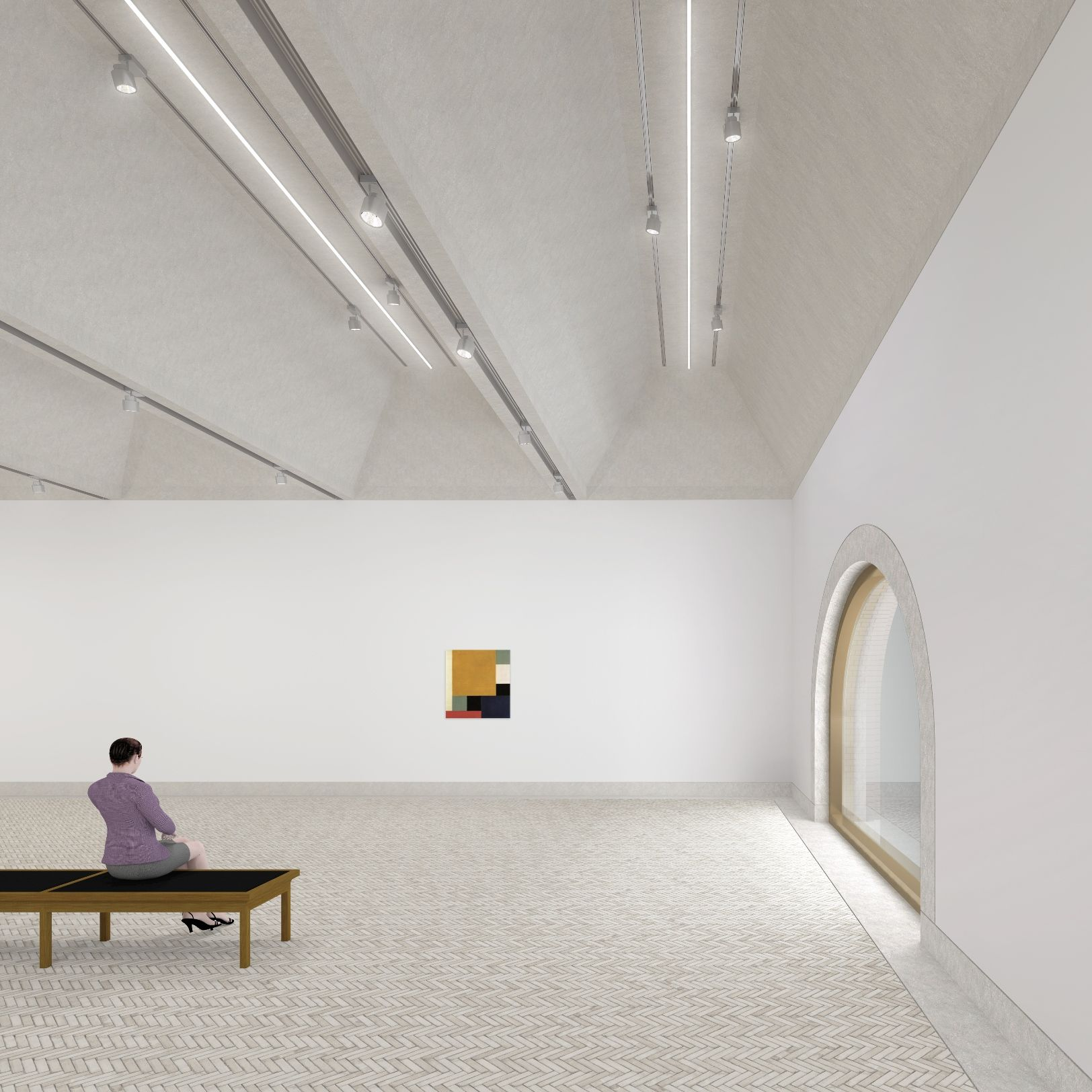 Impressie interieur Museum De Lakenhal (tentoonstellingszaal ...