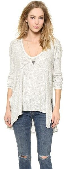6e09437ffeeeca Free People Drippy Thermal Sunset Park Top on shopstyle.com   My ...