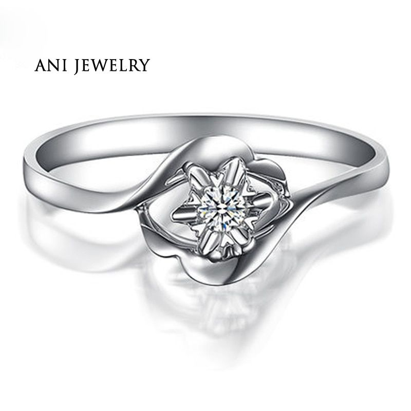 Find More Rings Information About Ani 18k White Gold Au750 Women