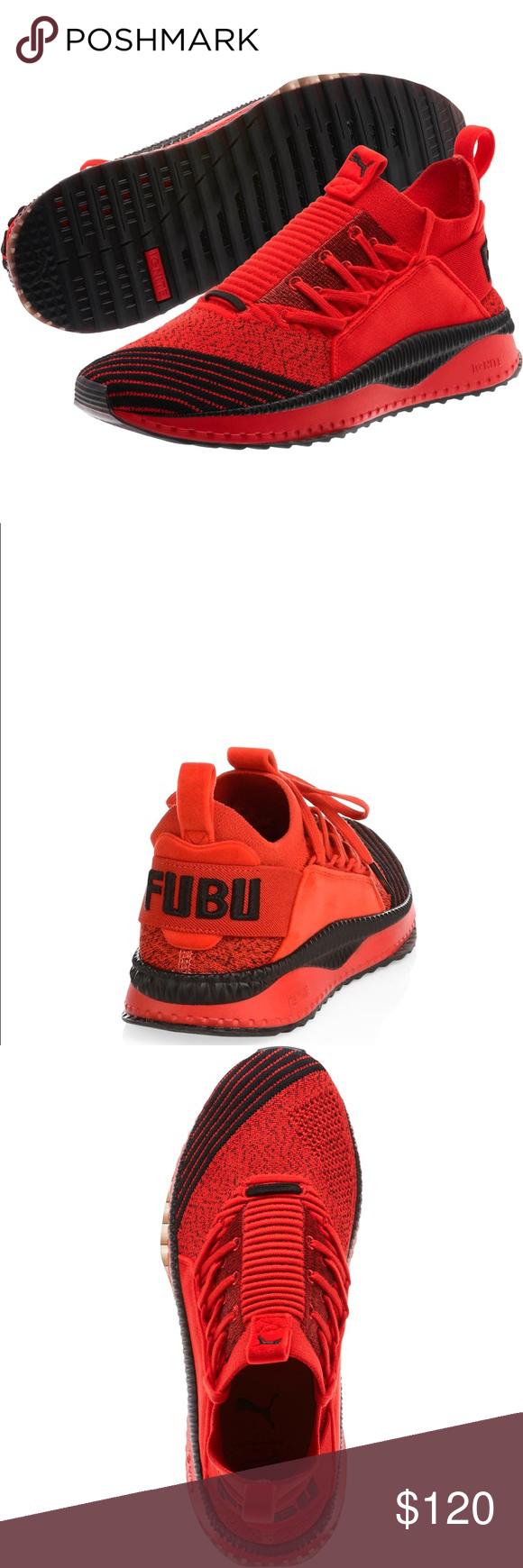 591023e7a9f2c1 Puma Tsugi Jun High Fubu Knits Brand new AUTHENTIC Puma TSUGI JUN Running Sneakers  Fubu High Risk Red Black Sizes 9.5 and 12 Puma Shoes Athletic Shoes