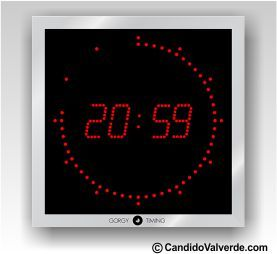reloj digital pared de led