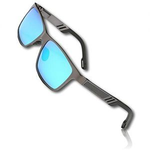 d16642c54b 1 Single Pair Of Gray   Blue Men s Aluminium Polarized Colored Sunglasses w  Resin Lens Driving