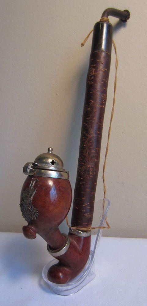 Vintage German Bavarian Jackalope Wind Cap Style Briar Pipe