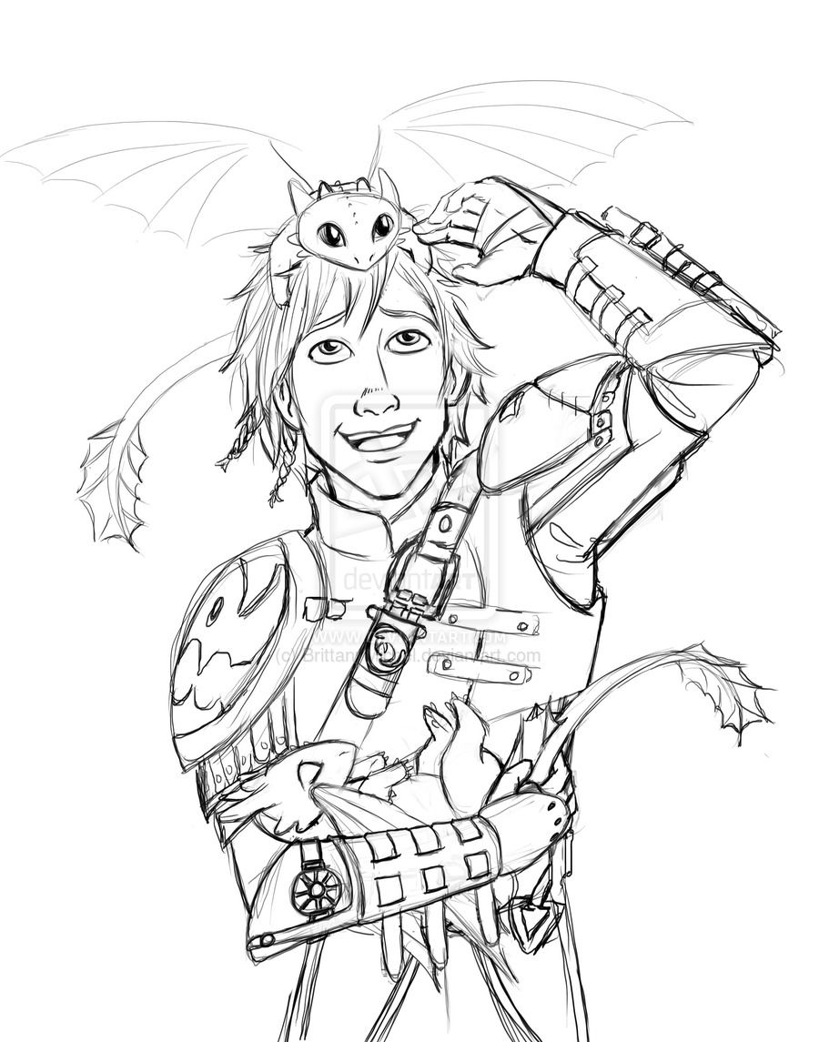 Hiccup And Baby Night Furies By Brittanymichel On Deviantart How Train Your Dragon How To Train Your Dragon Dragon Coloring Page