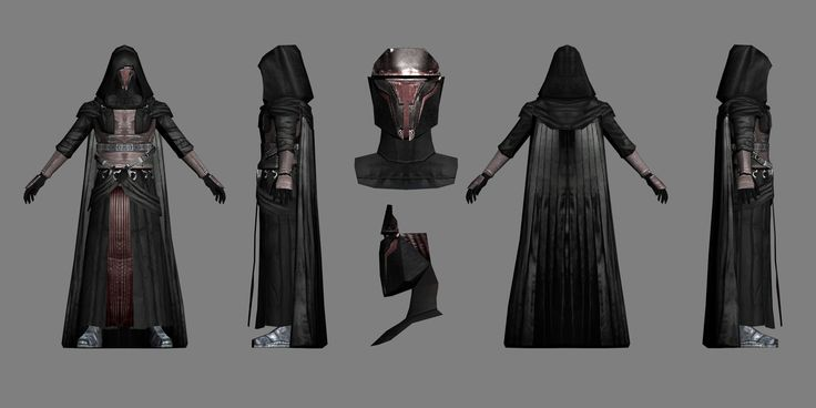 Star Wars Sith Dark Lord Darth Revan Cosplay Costume Uniform Cape Upgrade Outfit