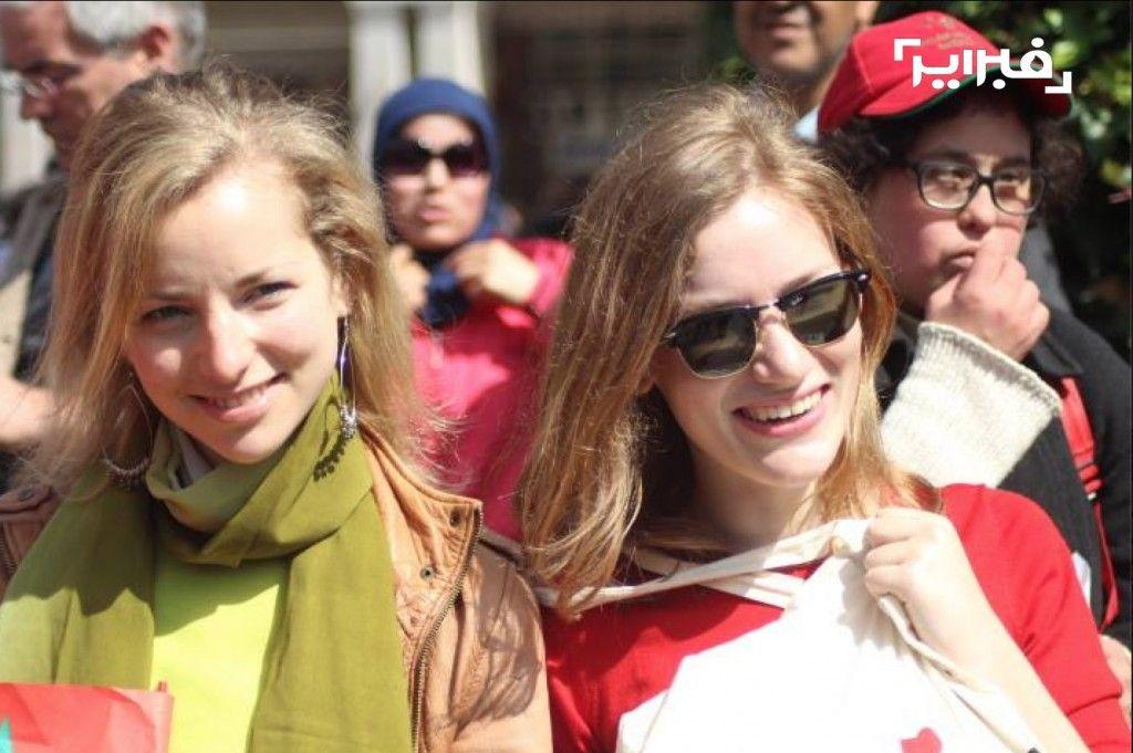 بالصور قوس قزح المليوني الذي قادته الحركة النسائية يوم 8 مارس ضد بنكيران