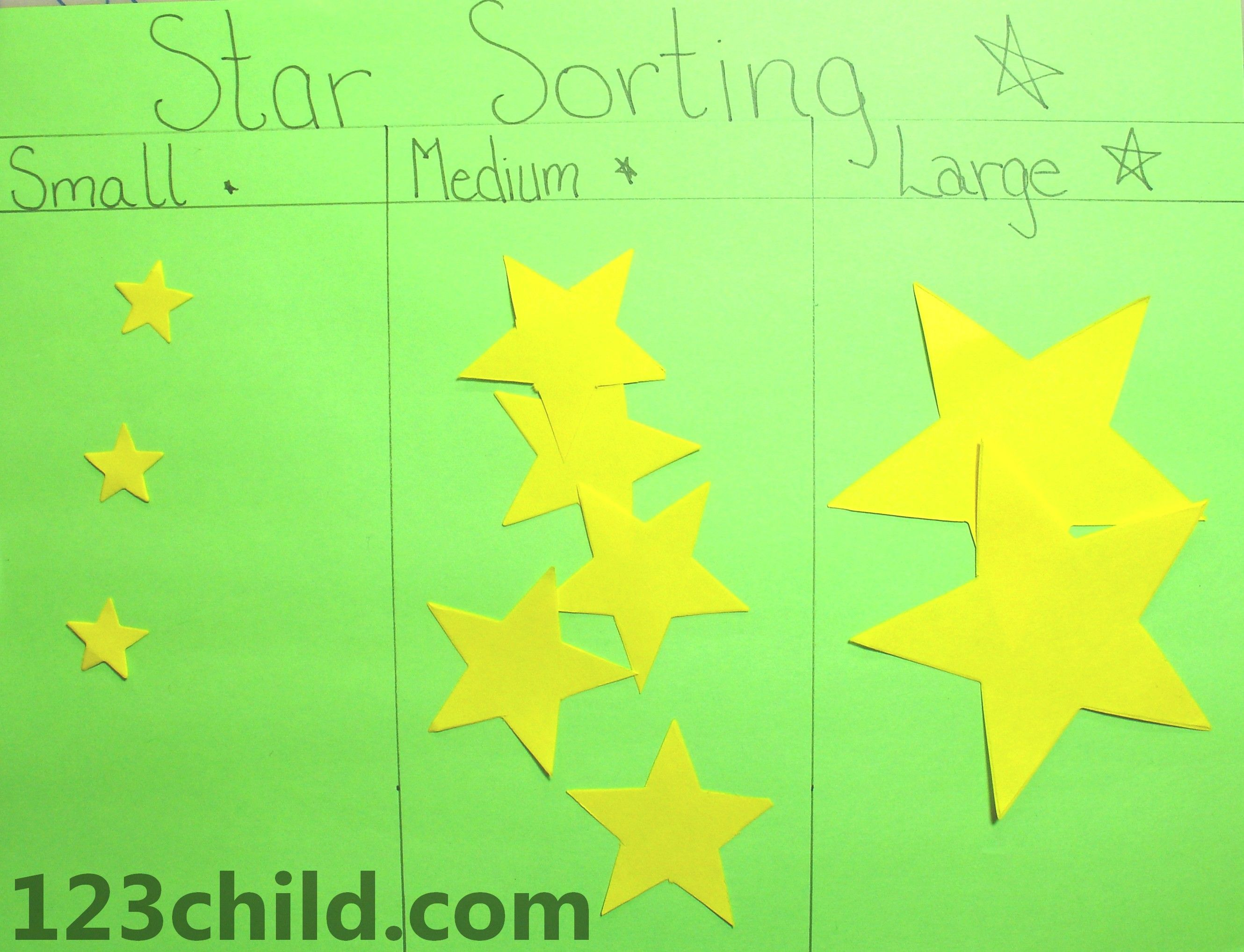 Star Sorting Activity