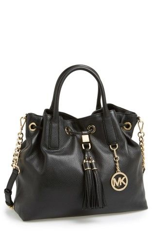 MICHAEL Michael Kors 'Large' Leather Drawstring Satchel | No