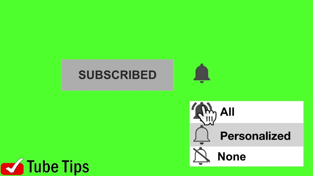 Free Download Subscribe Button Green Screen Animation Video