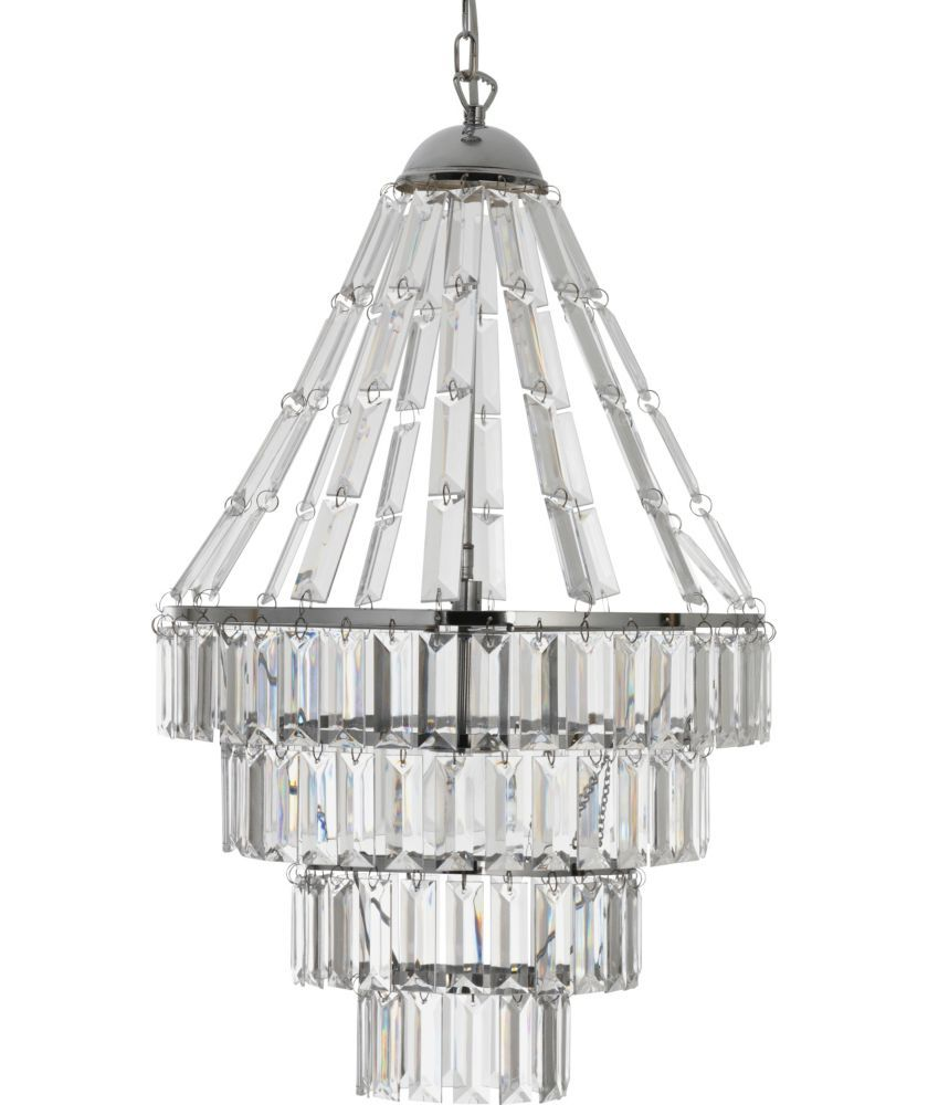 Buy heart of house kalista chandelier ceiling fitting chrome at buy heart of house kalista chandelier ceiling fitting chrome at argos aloadofball Image collections
