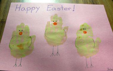 Handprint Chicks Easter Crafts