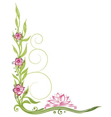 lotus flower border vector 1734899 by christinekrahl on