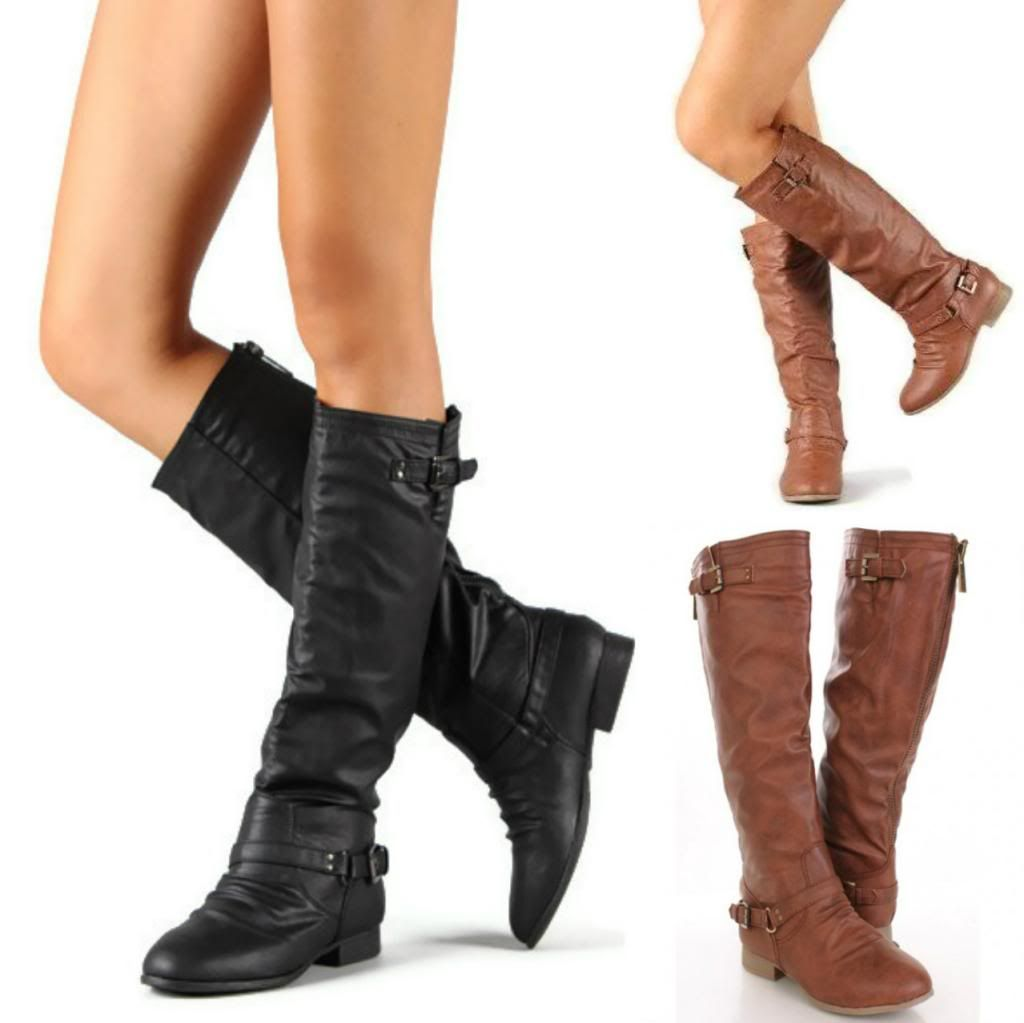 Knee High Boots For Women: Choosing Flat Boots | Shoes | Pinterest ...