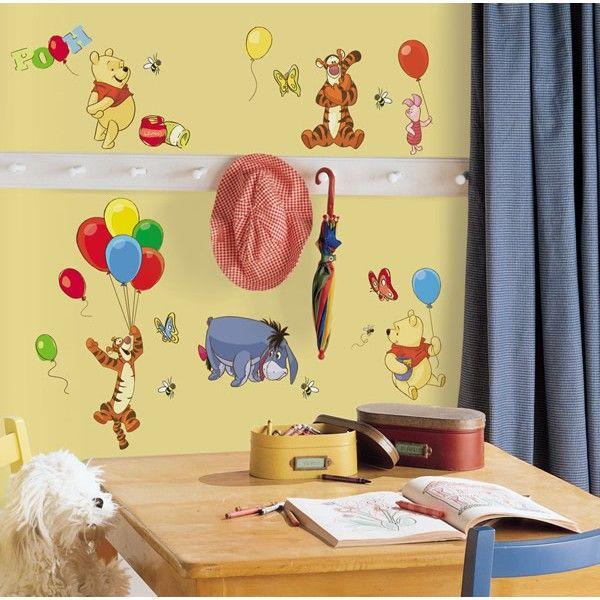 Disney Winnie the Pooh Wall Stickers | Winnie the Pooh Theme Wall ...