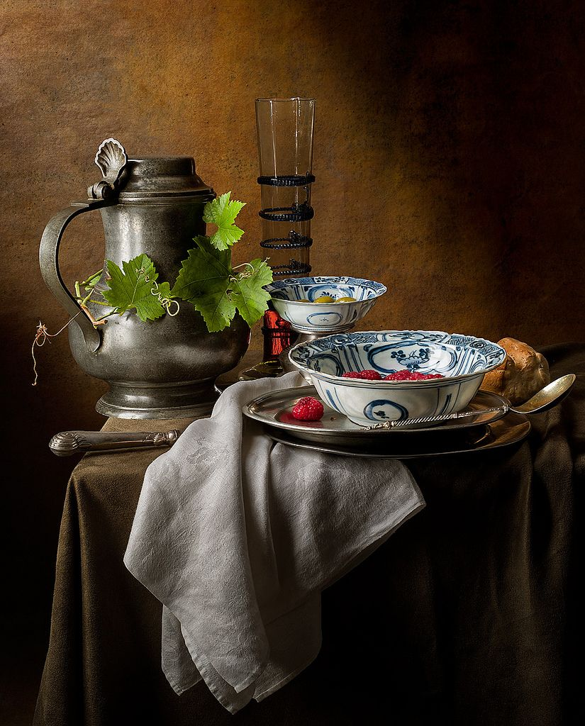 Photo/Still Life with Ming Bowls (after Jan Jansz)
