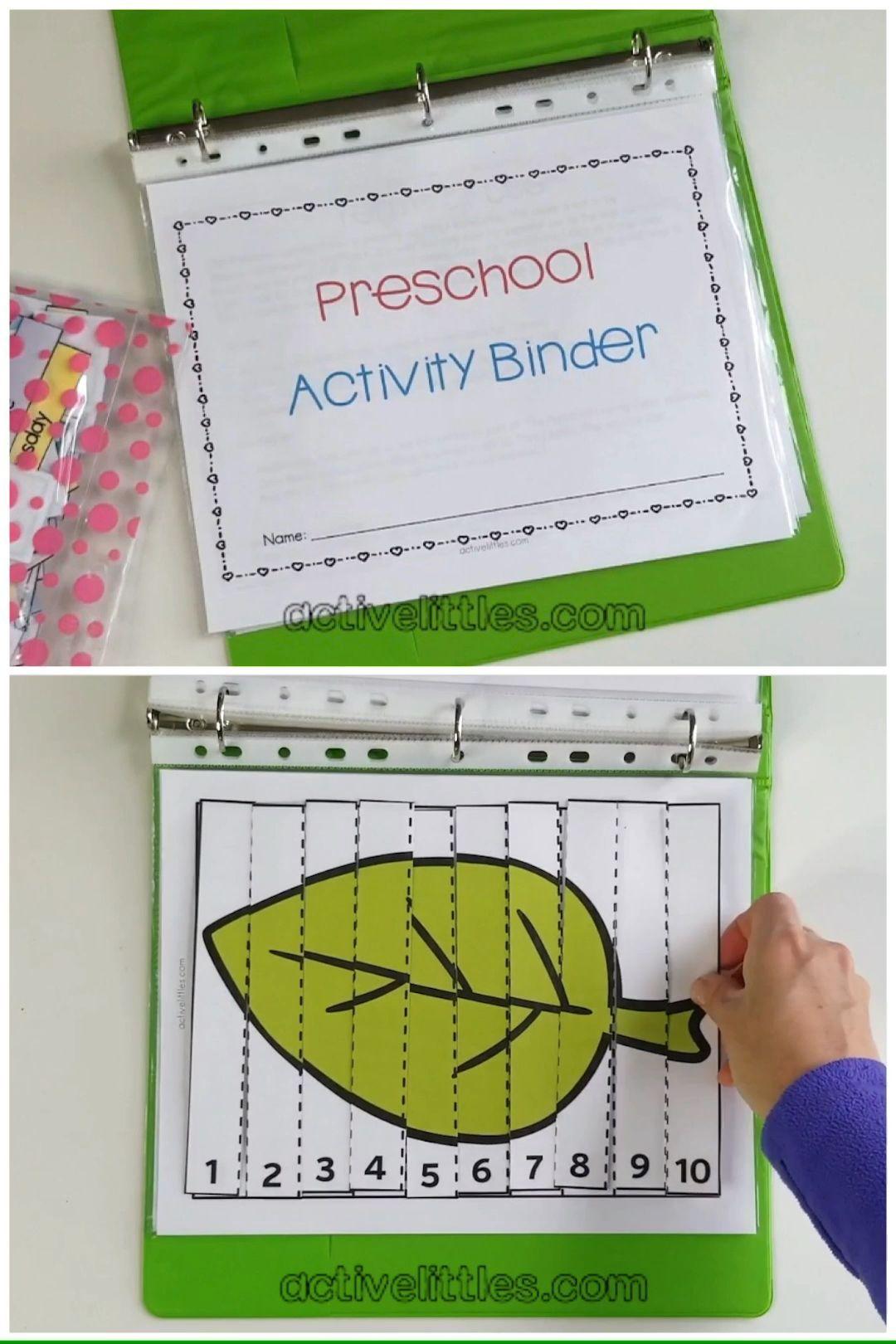 Preschool Interactive Activity Binder In