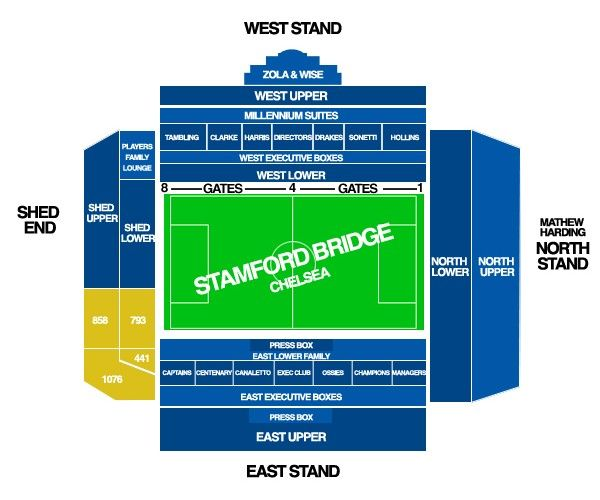 Stamford Bridge Map Stamford Bridge   Chelsea FC | Stadium Maps | Stamford bridge  Stamford Bridge Map