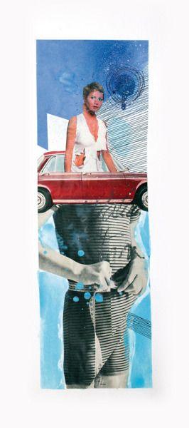 Numéro 74   Tamara ride a carPeinture, bombes de peinture, crayons - bombe de peinture aluminium