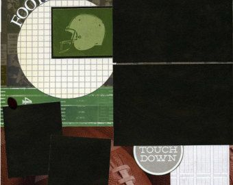 Items similar to Football Quarterback Premade Scrapbook Pages on Etsy