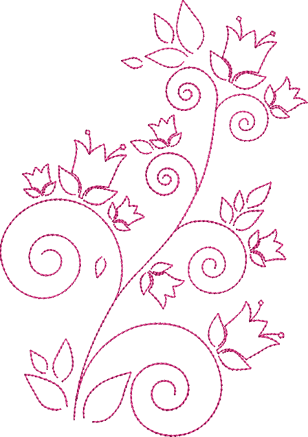 Der Stickbar Redwork Blumen Blumen Vorlage Sticken Blumen Fadengrafik Blumen