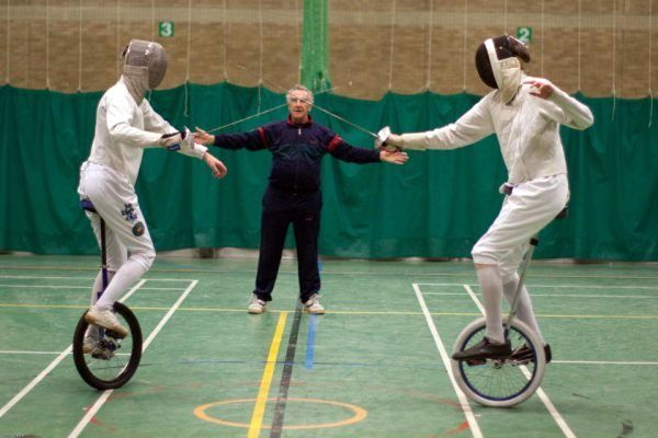 Unicycle fencing Bout by ~kiaero