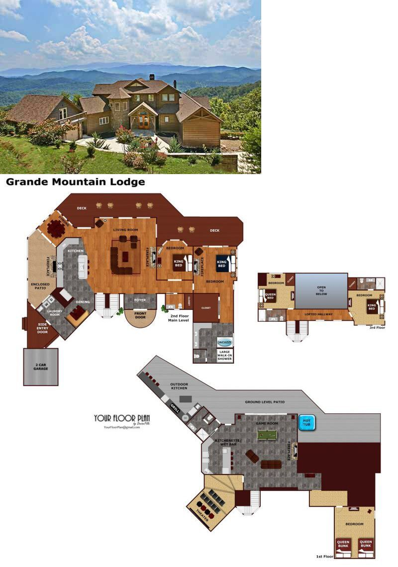 Grande Mountain Lodge Luxury Plus 5 Bedroom Pigeon Forge Cabin Rental Pigeon Forge Cabin Rentals Mountain Lodge Cabin Rentals