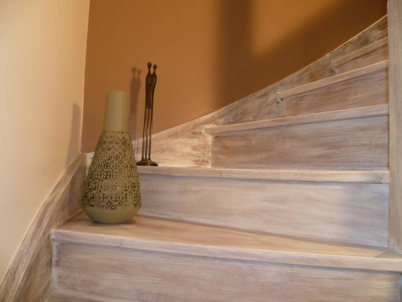 Escalier Ceruse Blanc Patinee A L Ancienne Avec Images