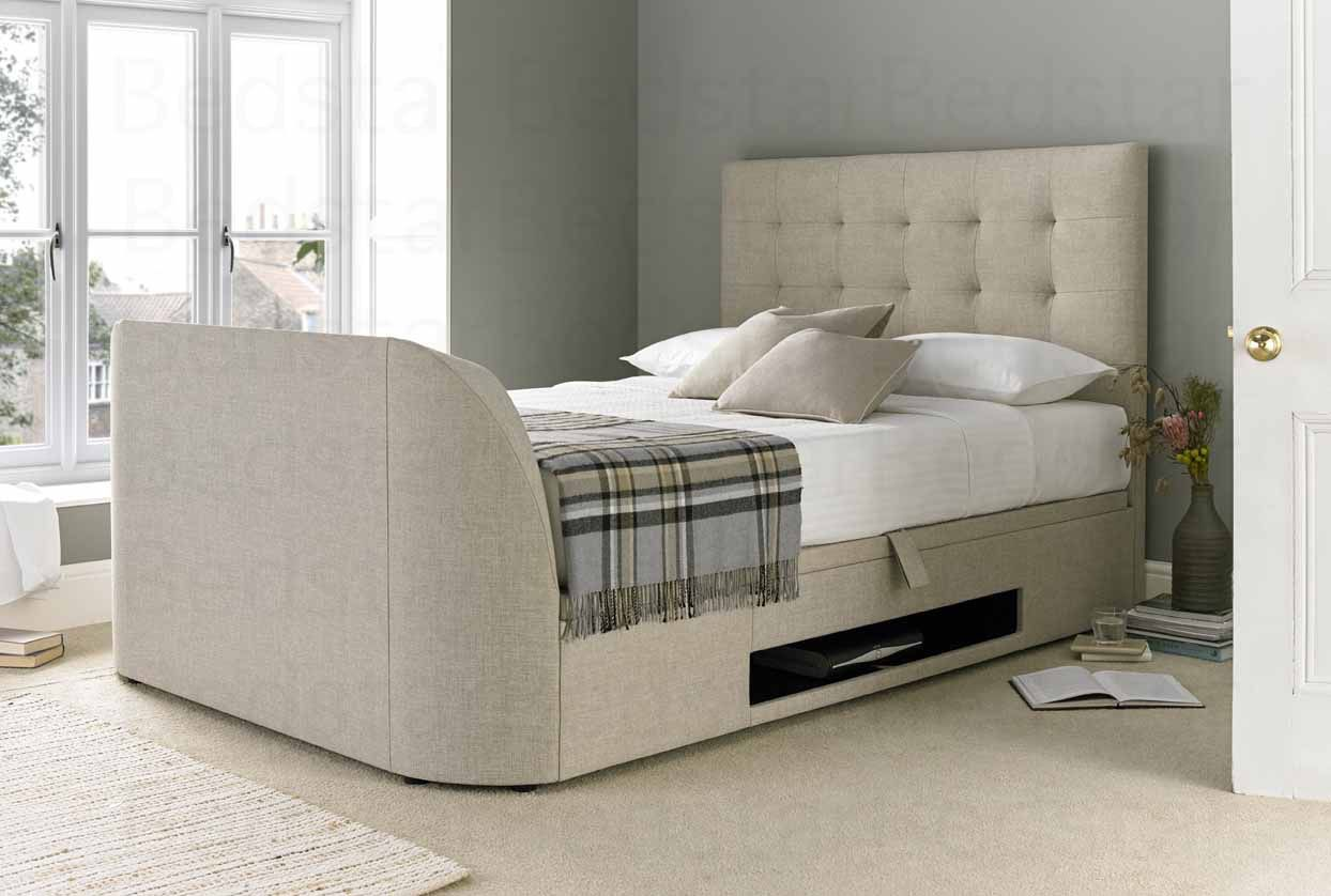 Terrific Mw Kaydian Design Barnard 4Ft 6 Double Ottoman Tv Bed Caraccident5 Cool Chair Designs And Ideas Caraccident5Info