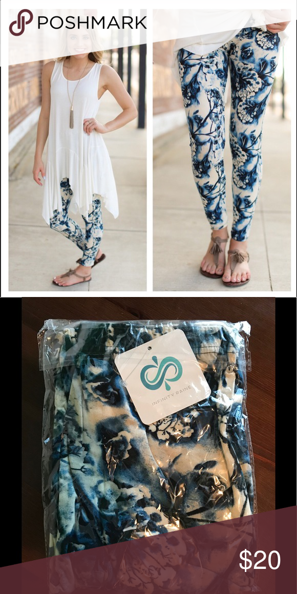 c332cee8cc20eb Fall Blue Print Leggings Pajama soft leggings. Fits most up to size 12  Infinity Raine Pants Leggings