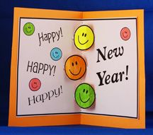 happy new year card craft for kids from wwwdaniellesplacecom