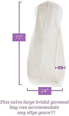 Wedding Gown Travel Storage Garment Bag By Bags For Less Soft Dress Garment Bags Wedding Dress Garment Bags Gowns