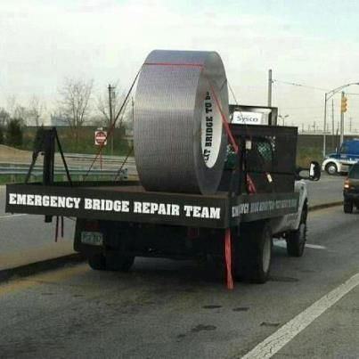 Thats right....Supersize Duct Tape. imagine what they can do with Super Glue!