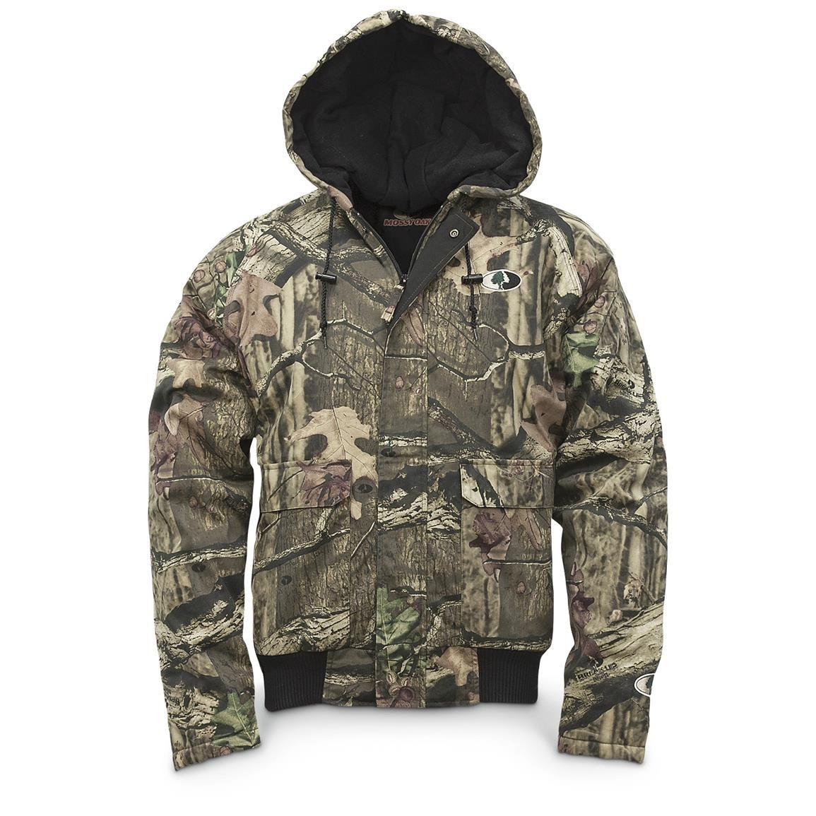 walls men s insulated hooded camo jacket mossy oak break on men s insulated coveralls with hood id=90366