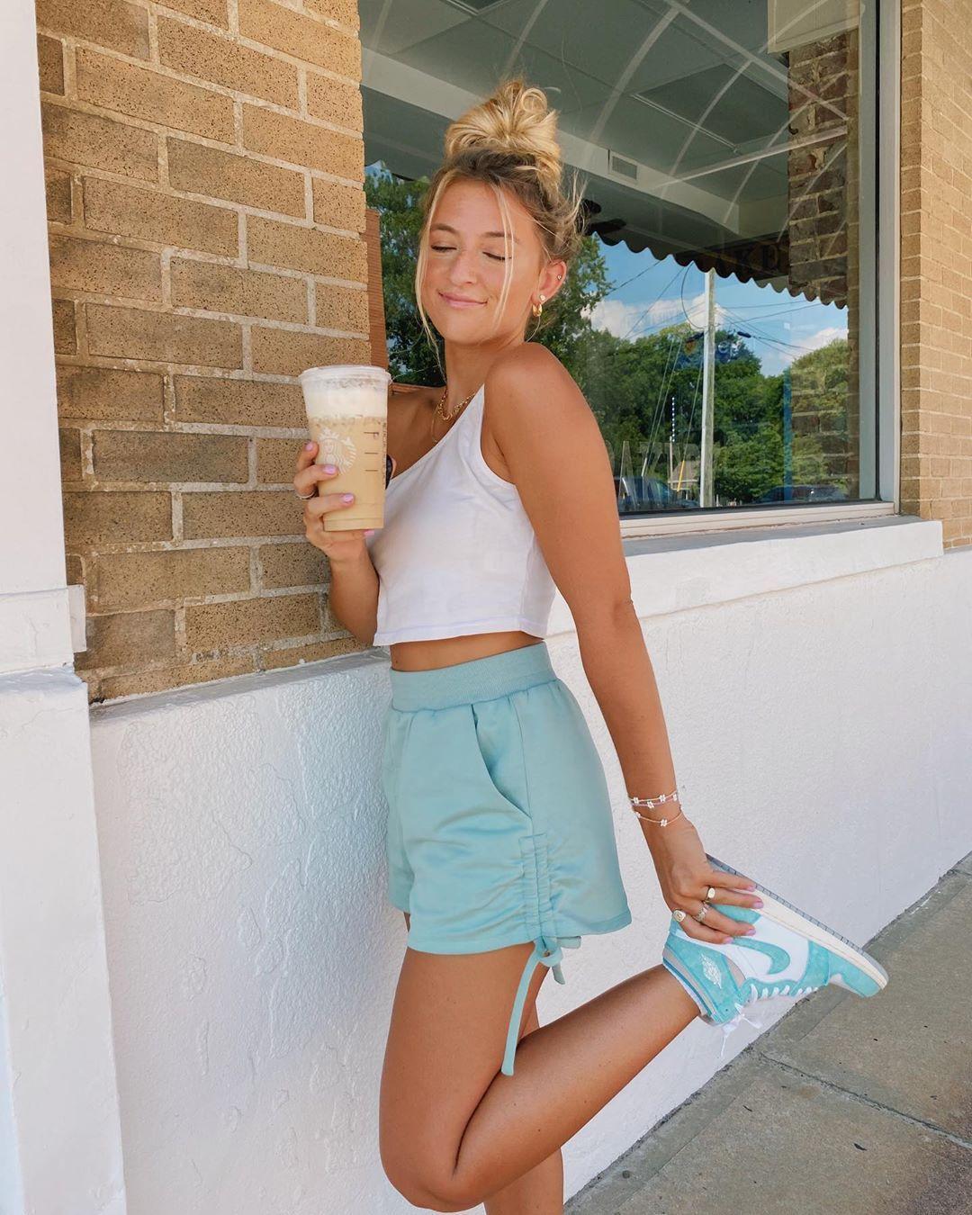 """natalie on Instagram: """"feelin teal🦋🧚🏼♀️ comfy sho"""
