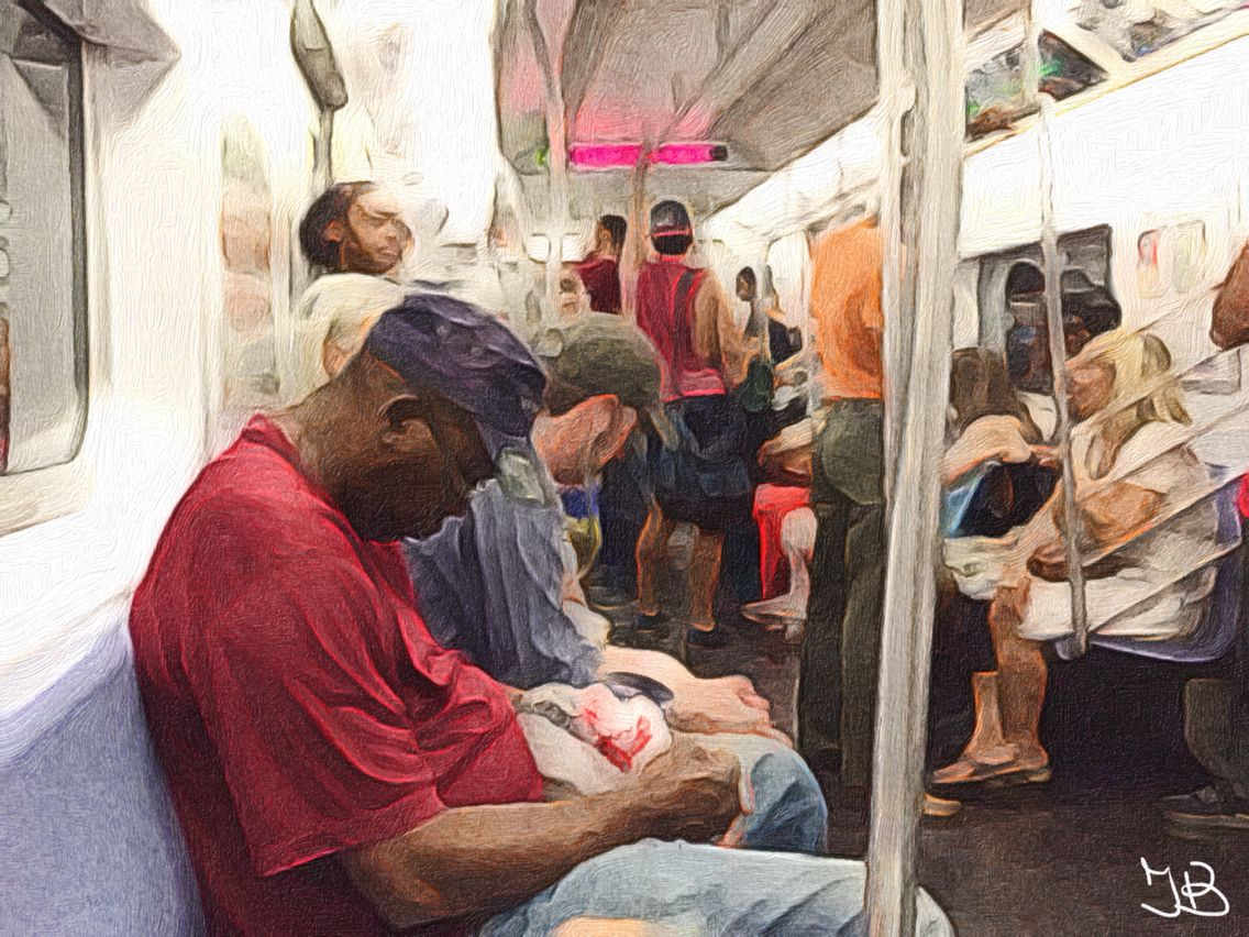 Subway in #NYC, summer '14