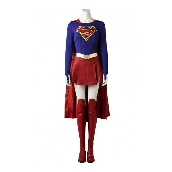 Supergirl Costume Superwoman Kara Danvers Cosplay Costumes ($154) ? liked on Polyvore featuring costumes  sc 1 st  Pinterest & Supergirl Costume Superwoman Kara Danvers Cosplay Costumes ($154 ...