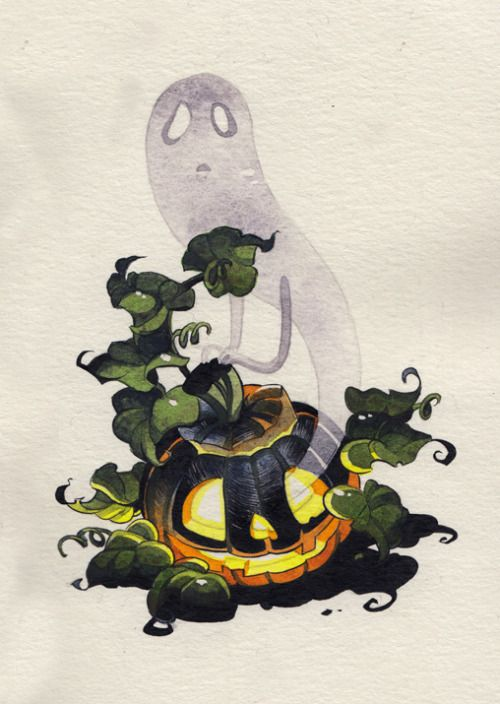Inktober day14 - Punkin ghost!