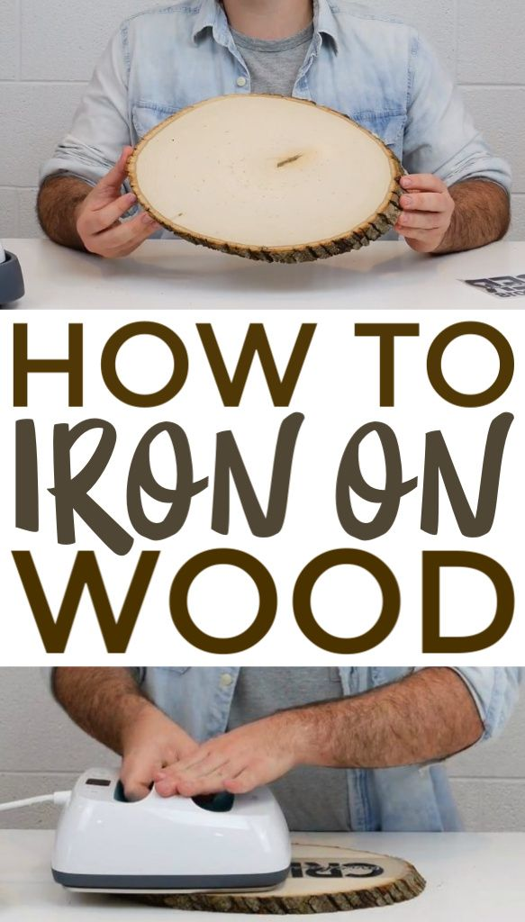 How To Iron On Wood - A Little Craft In Your Day #craftprojects