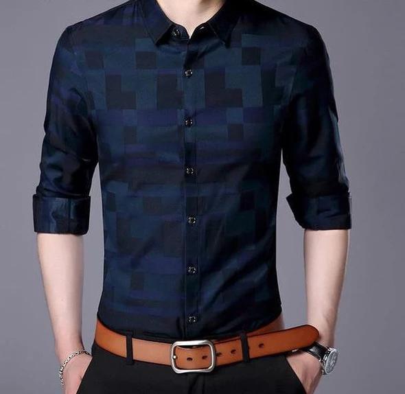 Men Shirt Mens Business Casual Shirts 2018 New Arrival Men Famousliligla