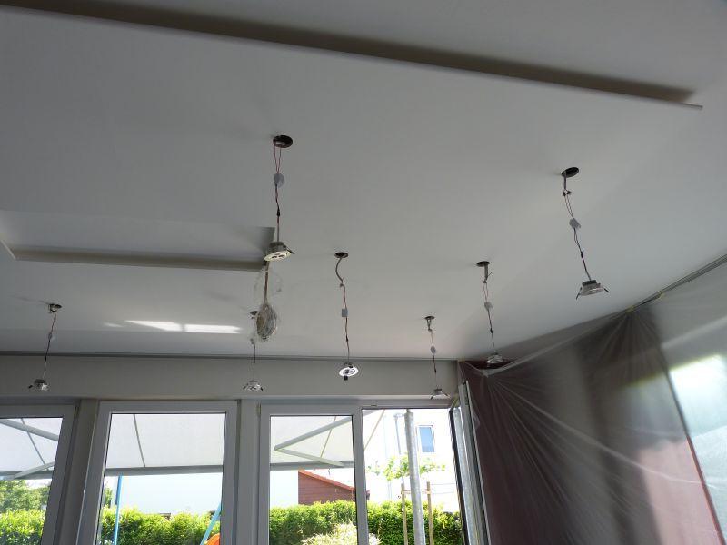 LED Einbaustrahler in abgehngter Decke  Licht  Deckenbeleuchtung Indirekte deckenbeleuchtung