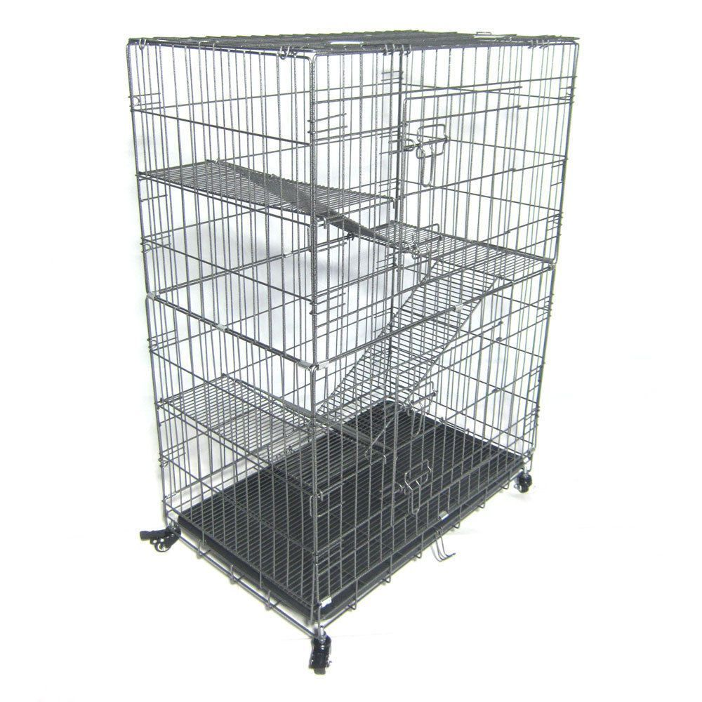 (eBay link) New Folding Collapsible Pet Cat Dog Wire Cage