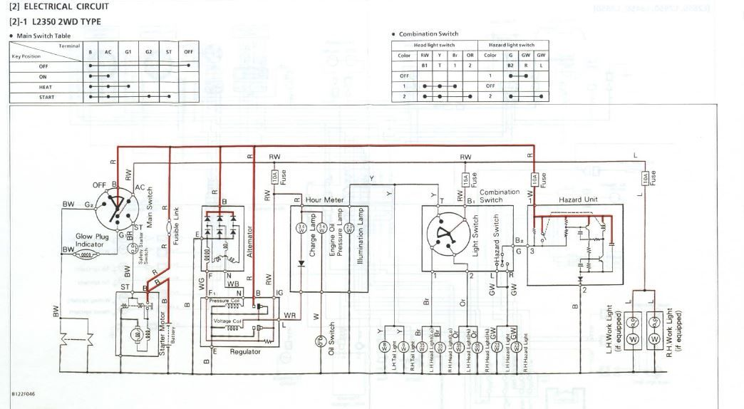 kubota tractor safety switch wiring diagram l2350 wiring harness newbie question page 2  l2350 wiring harness newbie question